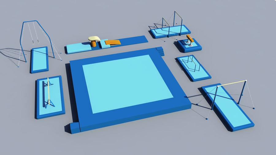 体操器材收藏 royalty-free 3d model - Preview no. 6