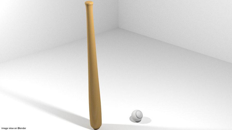 运动器材-棒球 royalty-free 3d model - Preview no. 1