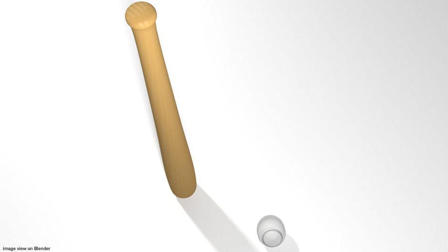 运动器材-棒球 royalty-free 3d model - Preview no. 3