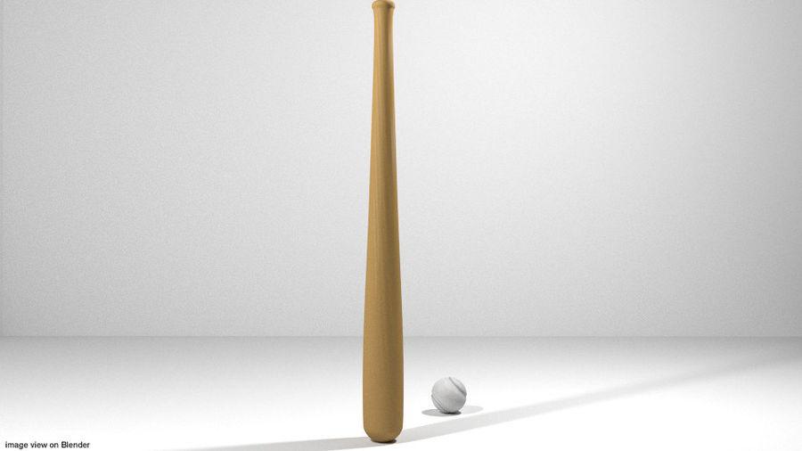 运动器材-棒球 royalty-free 3d model - Preview no. 2