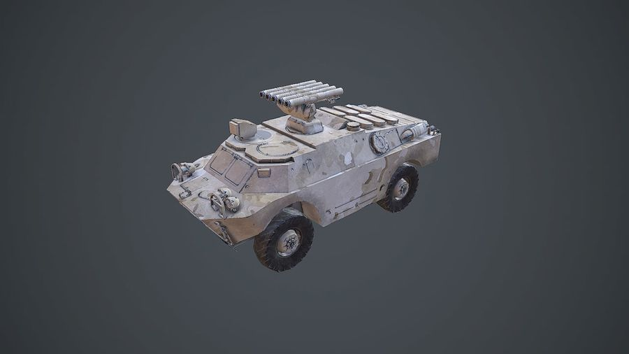 BRDM-3 Rocket Launcher royalty-free 3d model - Preview no. 1