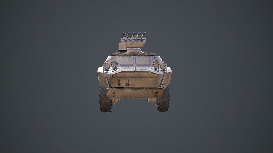 BRDM-3 Rocket Launcher royalty-free 3d model - Preview no. 8
