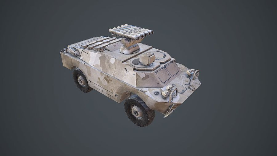 BRDM-3 Rocket Launcher royalty-free 3d model - Preview no. 7