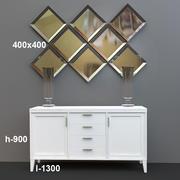зеркало и мебель 3d model