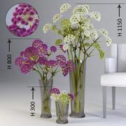 Trois bouquet de hauteur différente 3d model