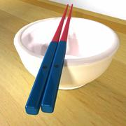 Korean Chopsticks 3d model