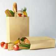 Bag with food 3d model