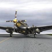 P-51 Mustang for Poser 3d model