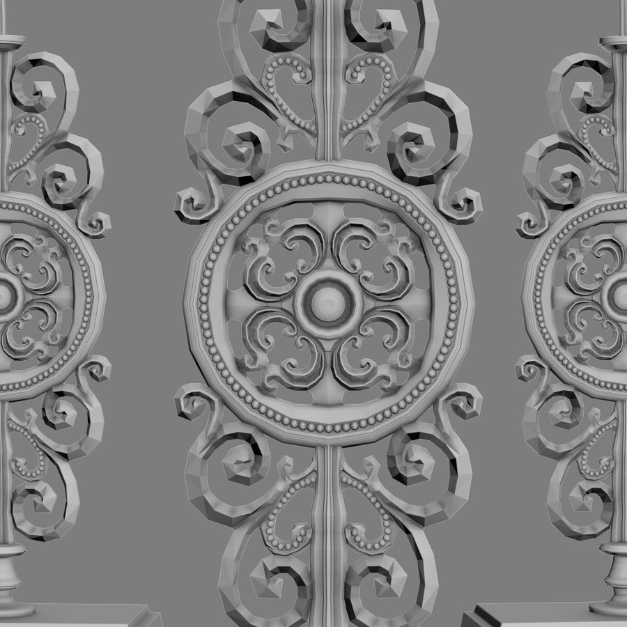 LuxDeco Prague brons bordslampa royalty-free 3d model - Preview no. 12