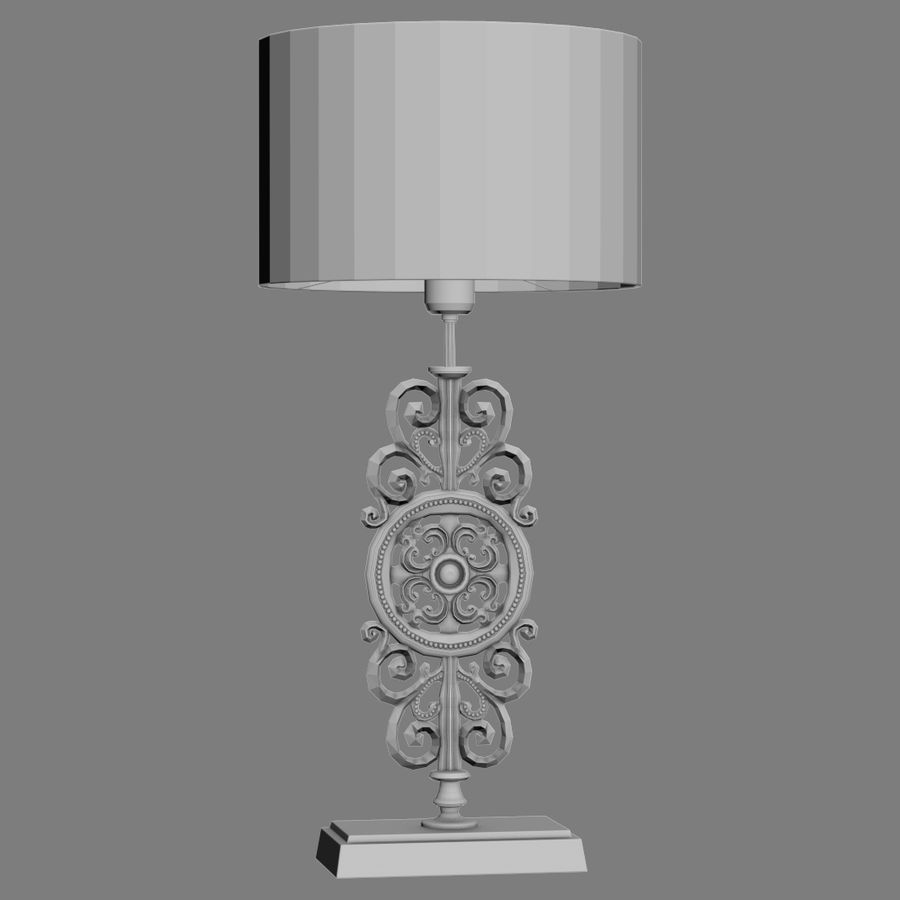 LuxDeco Prague brons bordslampa royalty-free 3d model - Preview no. 10