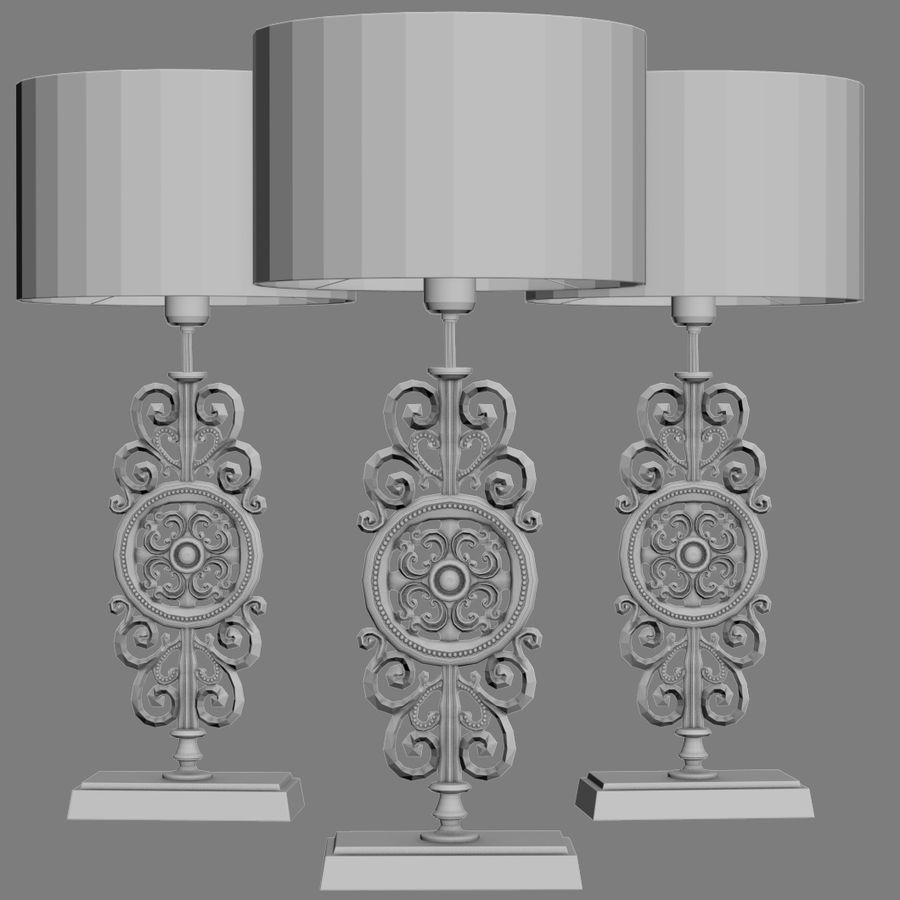 LuxDeco Prague brons bordslampa royalty-free 3d model - Preview no. 11