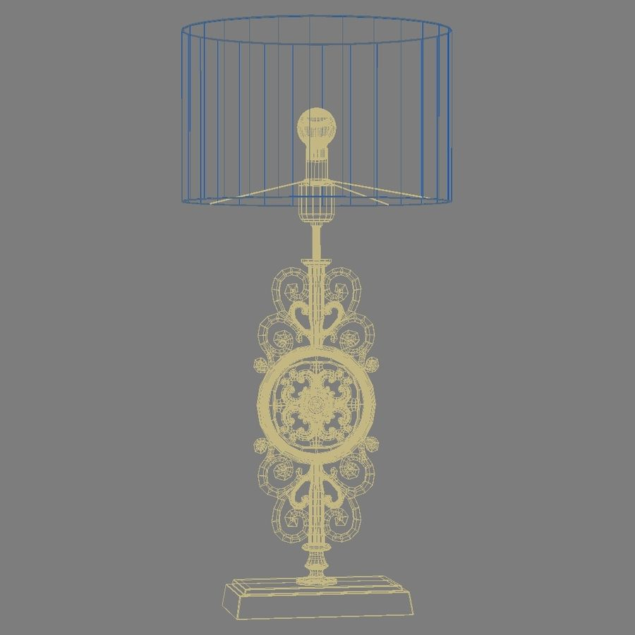 LuxDeco Prague brons bordslampa royalty-free 3d model - Preview no. 7