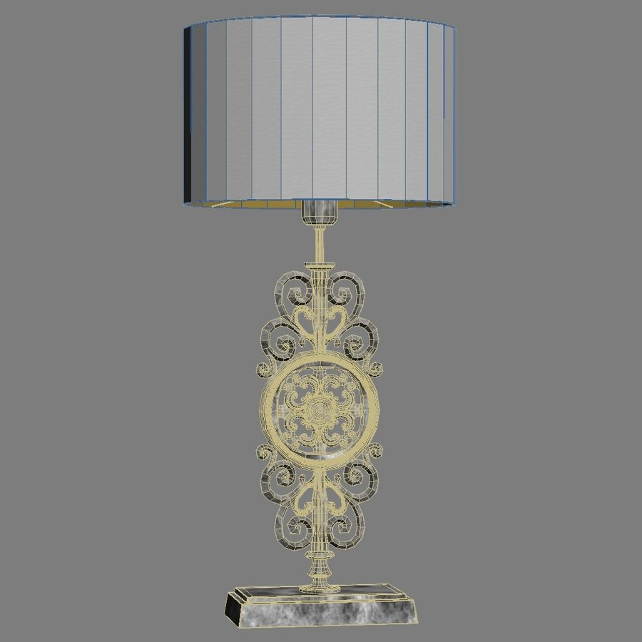 LuxDeco Prague brons bordslampa royalty-free 3d model - Preview no. 4