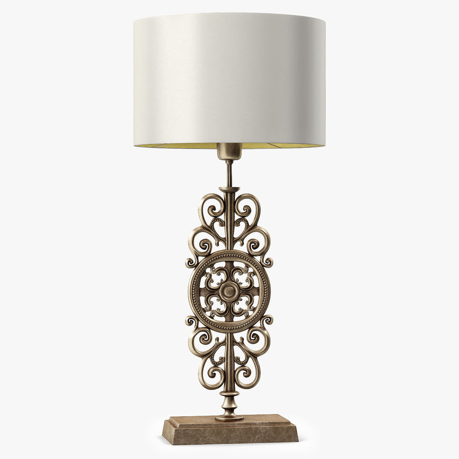 LuxDeco Prague brons bordslampa royalty-free 3d model - Preview no. 2