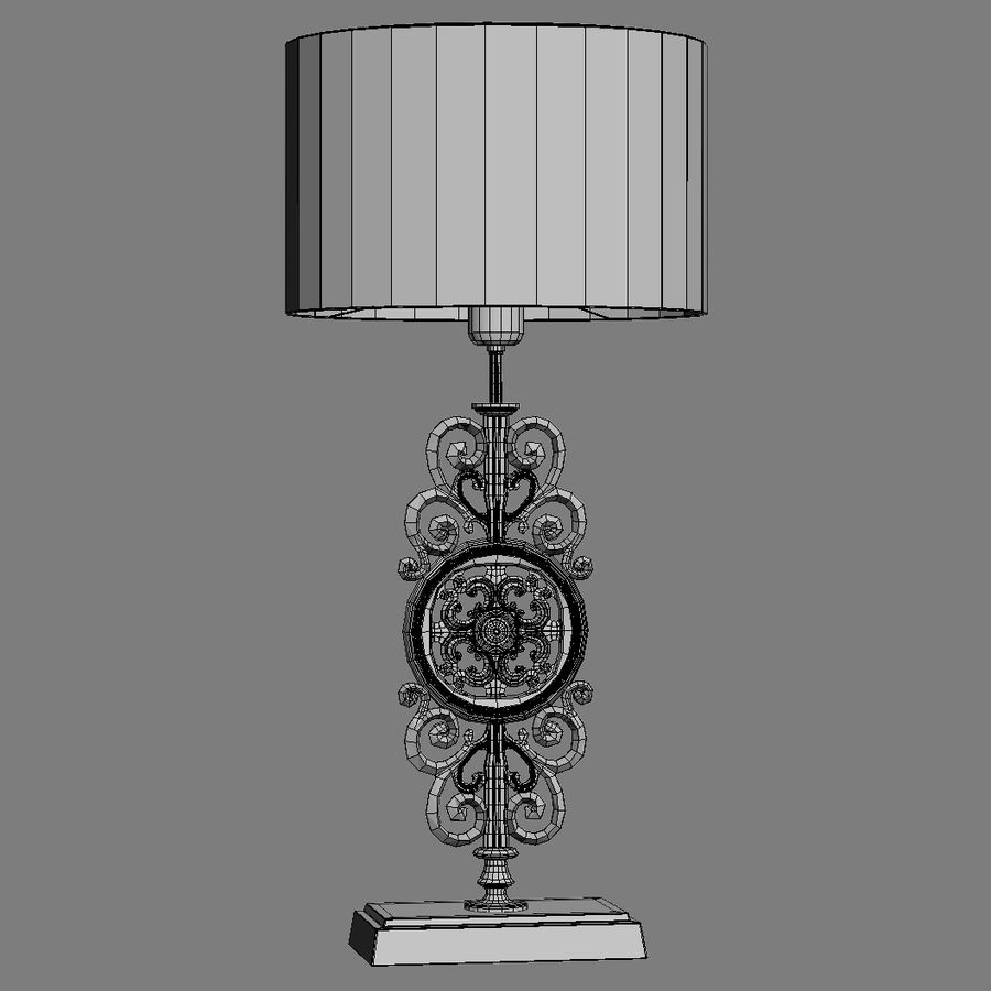 LuxDeco Prague brons bordslampa royalty-free 3d model - Preview no. 13
