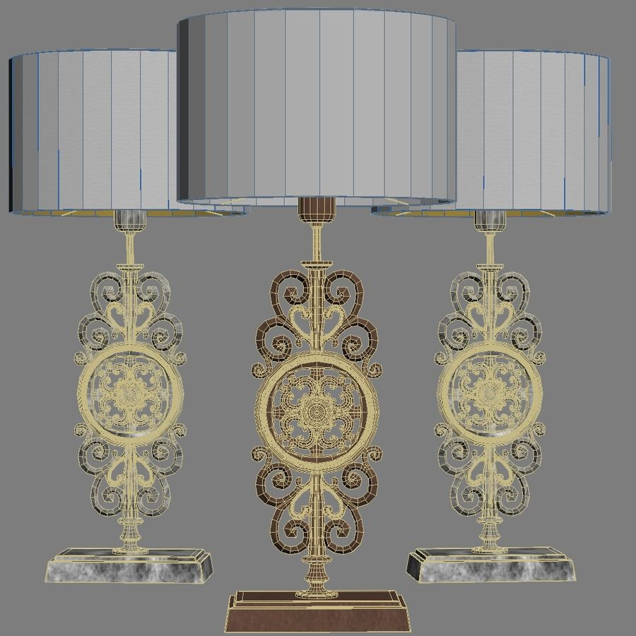 LuxDeco Prague brons bordslampa royalty-free 3d model - Preview no. 5