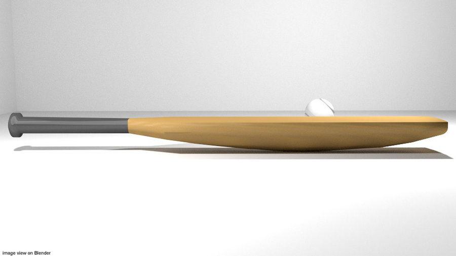 运动器材-板球 royalty-free 3d model - Preview no. 2