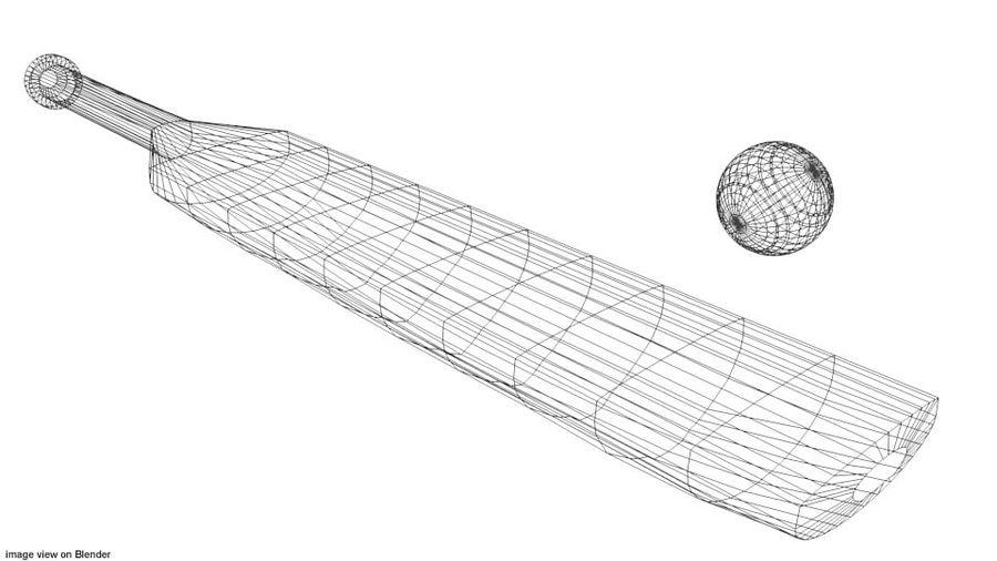 运动器材-板球 royalty-free 3d model - Preview no. 4