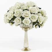 Bir vazoda güller 3d model