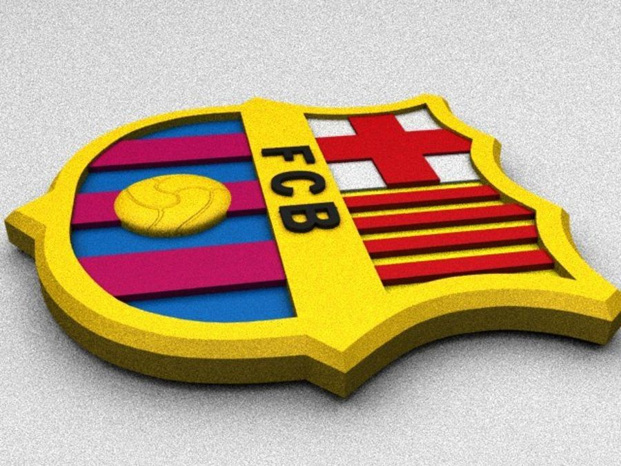 FC Barcelona Coat of Arms royalty-free 3d model - Preview no. 3