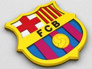 FC Barcelona Coat of Arms 3d model
