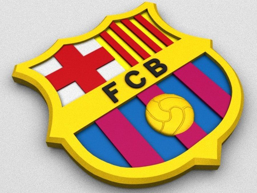 FC Barcelona Coat of Arms royalty-free 3d model - Preview no. 1