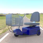 Electric Shopping Cart 3d model