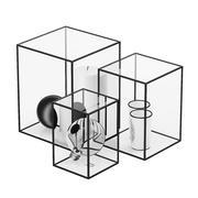 装饰玻璃立方体 3d model