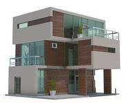 Cottage house02 3d model
