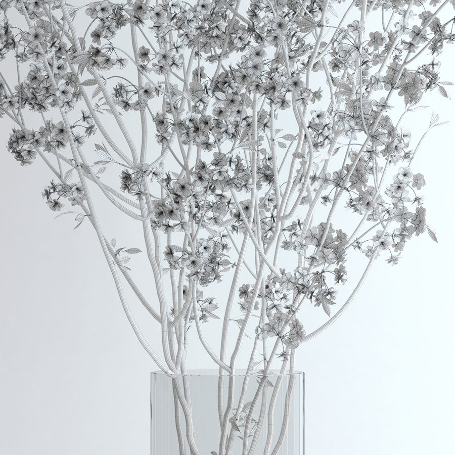 Cherry Blossom royalty-free 3d model - Preview no. 12