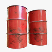 Barriles de petróleo modelo 3d