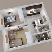 公寓家具 3d model