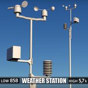 Dispositif de station météo 3d model