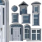 영국 고전 스타일의 창문과 문 3d model