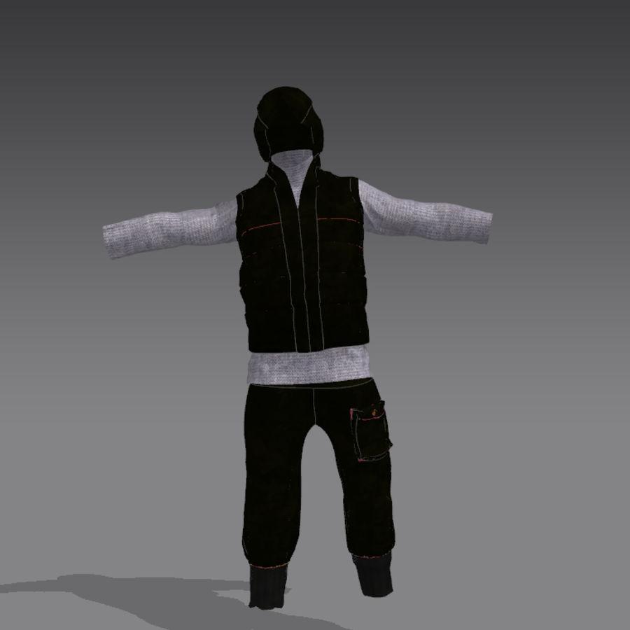 mężczyzna w wojskowym ubraniu. ożywiony royalty-free 3d model - Preview no. 4