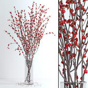 Prunus Red Blossom 3d model