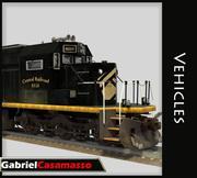 Cargo Train 3d model
