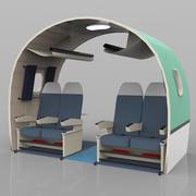 Interior da aeronave 3d model