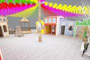 Juni fest - Saint John fest 3d model