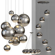 吊灯镜球 3d model