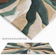 Infinite Splinter Teal Rug 3d model