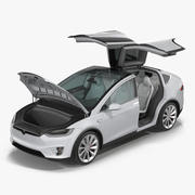 Tesla Model X Rigged 3d model