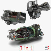Sectioned Turbojet Engines 3D Models Collection 3d model
