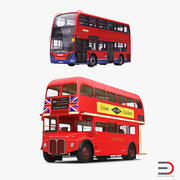 Collection de modèles 3D de bus de Londres 3d model