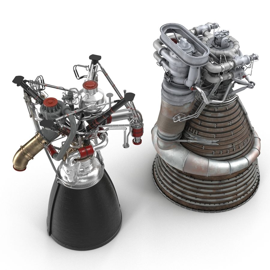 Aircraft Engines Collection royalty-free 3d model - Preview no. 6