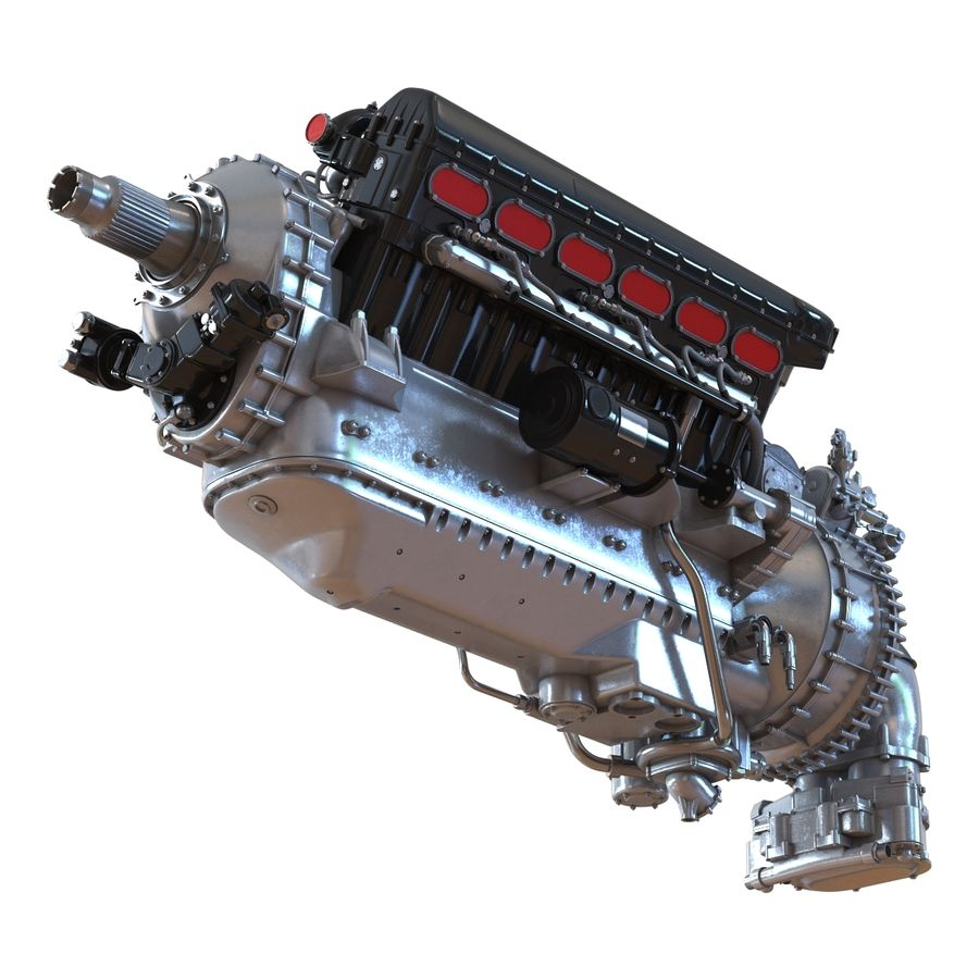 Aircraft Engines Collection royalty-free 3d model - Preview no. 27