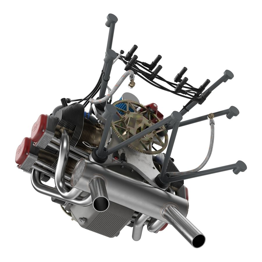 Aircraft Engines Collection royalty-free 3d model - Preview no. 39