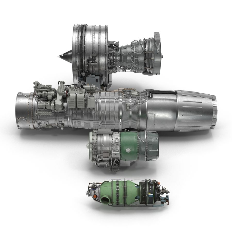 Aircraft Engines Collection royalty-free 3d model - Preview no. 8