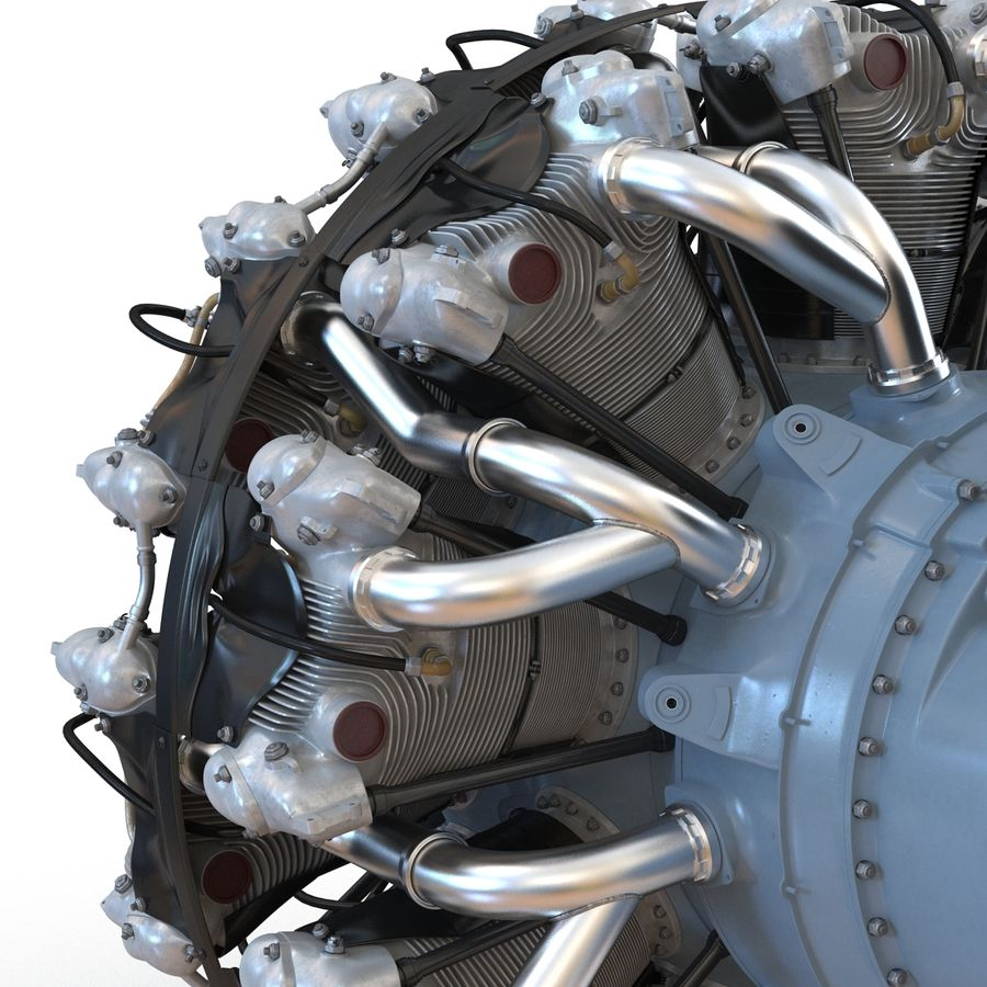 Aircraft Engines Collection royalty-free 3d model - Preview no. 60