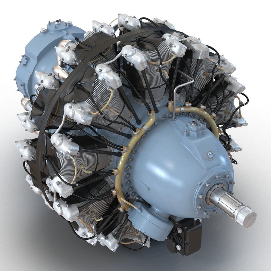 Aircraft Engines Collection royalty-free 3d model - Preview no. 54